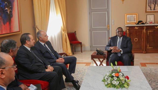 Salaheddine Mezouar et Yassine Mansouri reçus par le Président sénégalais Macky Sall.